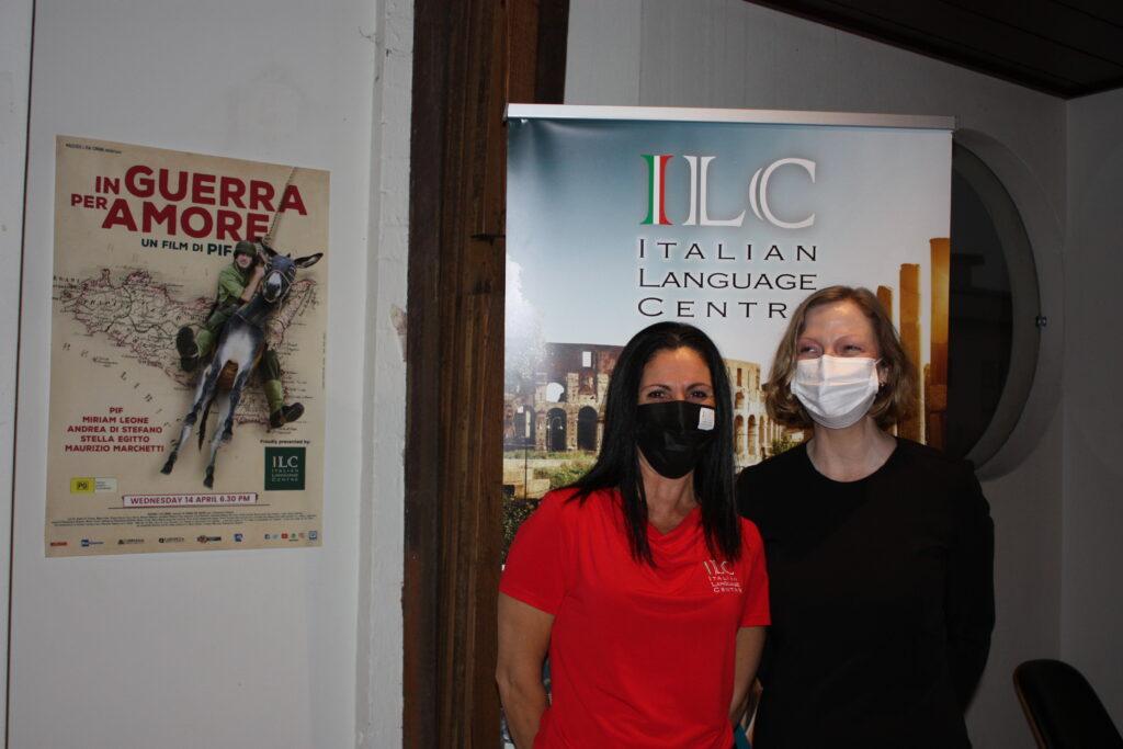 Italian teachers at movie night, New Farm, Brisbane