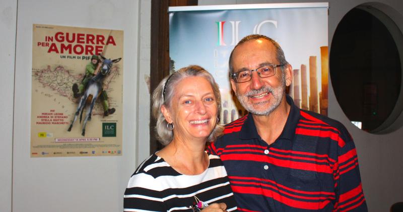 Italian language students at the ILC movie night New Farm Cinema